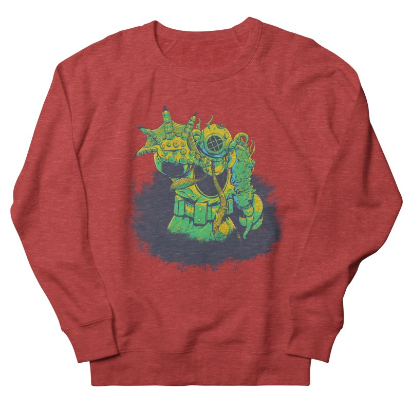 Green in the Gills  Men's French Terry Sweatshirt by Requiem's Thread Shop