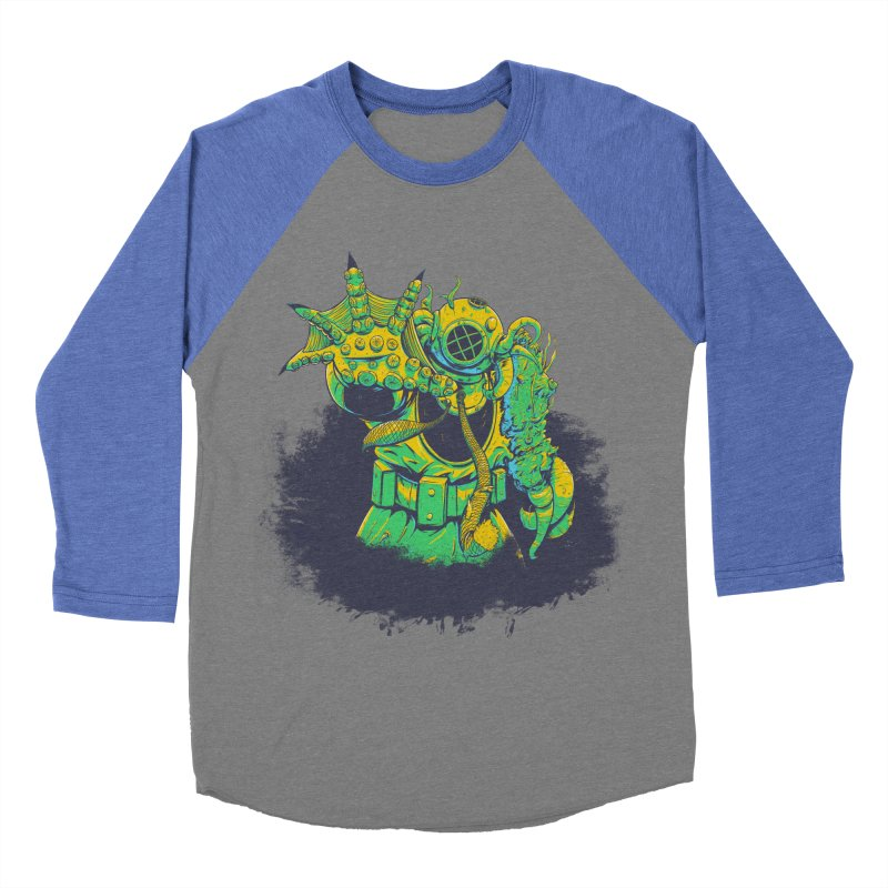 Green in the Gills  Men's Baseball Triblend T-Shirt by Requiem's Thread Shop