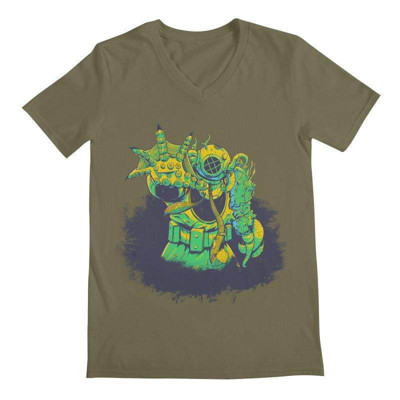 Green in the Gills  Men's Regular V-Neck by Requiem's Thread Shop