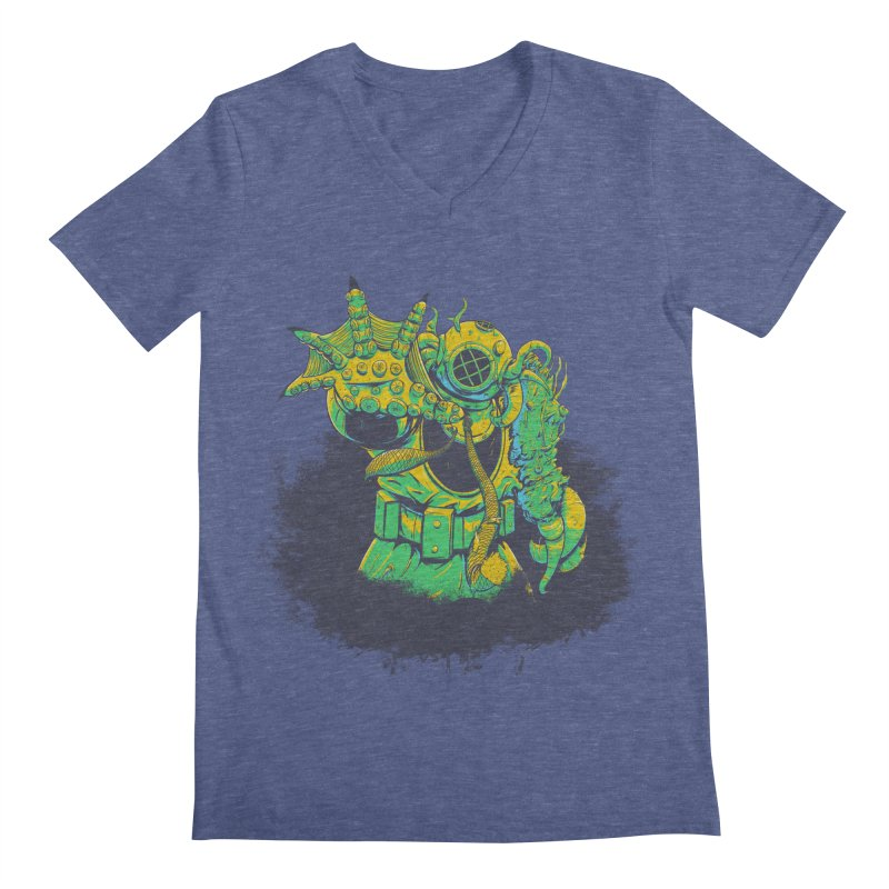 Green in the Gills  Men's Regular V-Neck by Requiem's Thread Shop