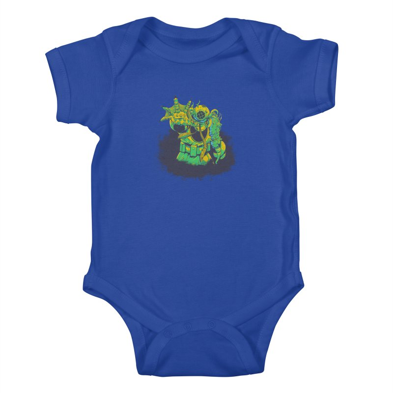 Green in the Gills  Kids Baby Bodysuit by Requiem's Thread Shop
