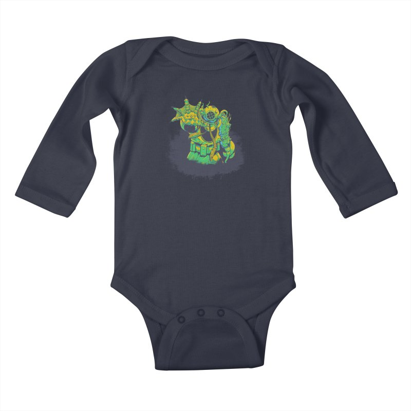 Green in the Gills  Kids Baby Longsleeve Bodysuit by Requiem's Thread Shop