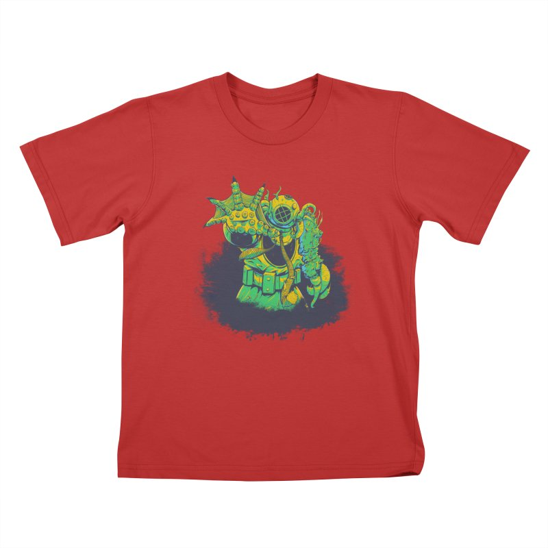 Green in the Gills  Kids T-Shirt by Requiem's Thread Shop