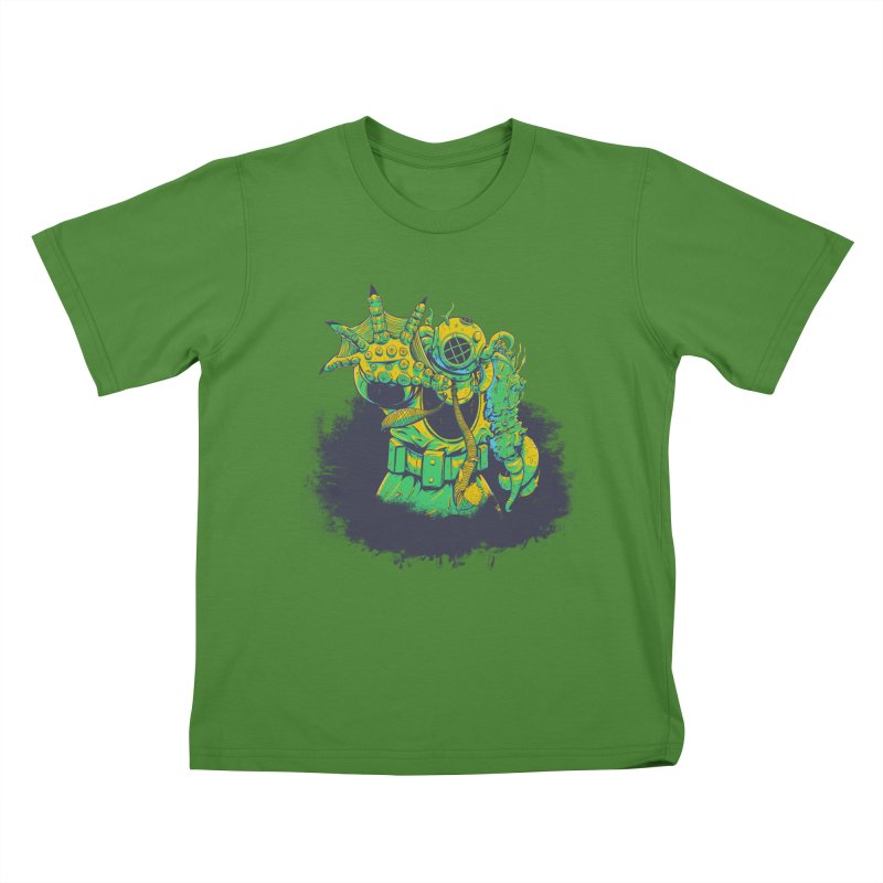 Green in the Gills  Kids T-Shirt by Requiem's Thread Shop