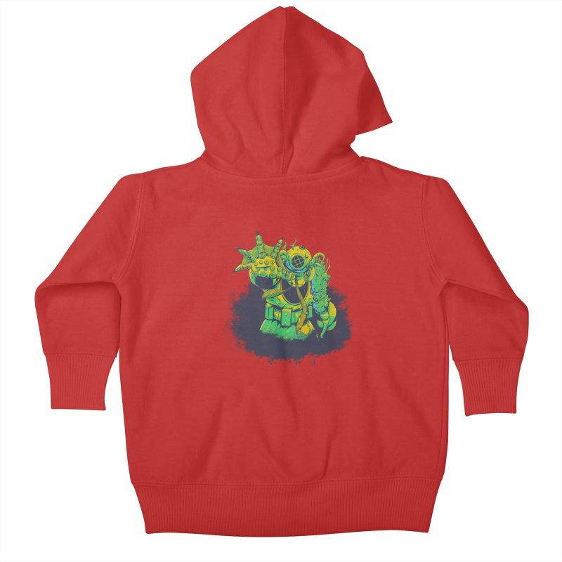 Green in the Gills  Kids Baby Zip-Up Hoody by Requiem's Thread Shop