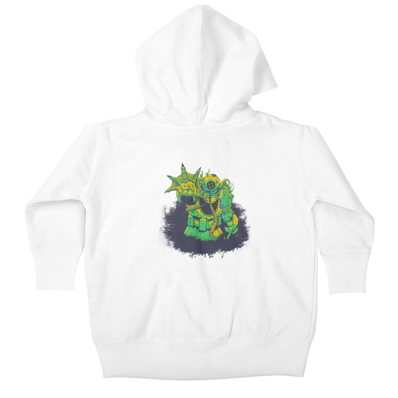 Green in the Gills  Kids Baby Zip-Up Hoody by Requiem's Thread Shop
