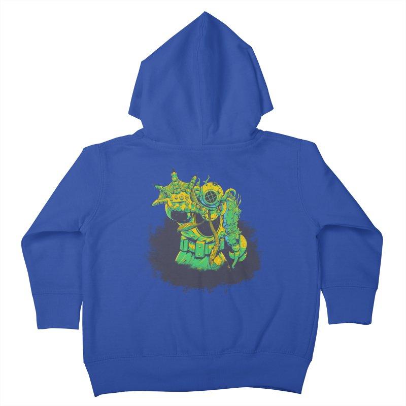 Green in the Gills  Kids Toddler Zip-Up Hoody by Requiem's Thread Shop