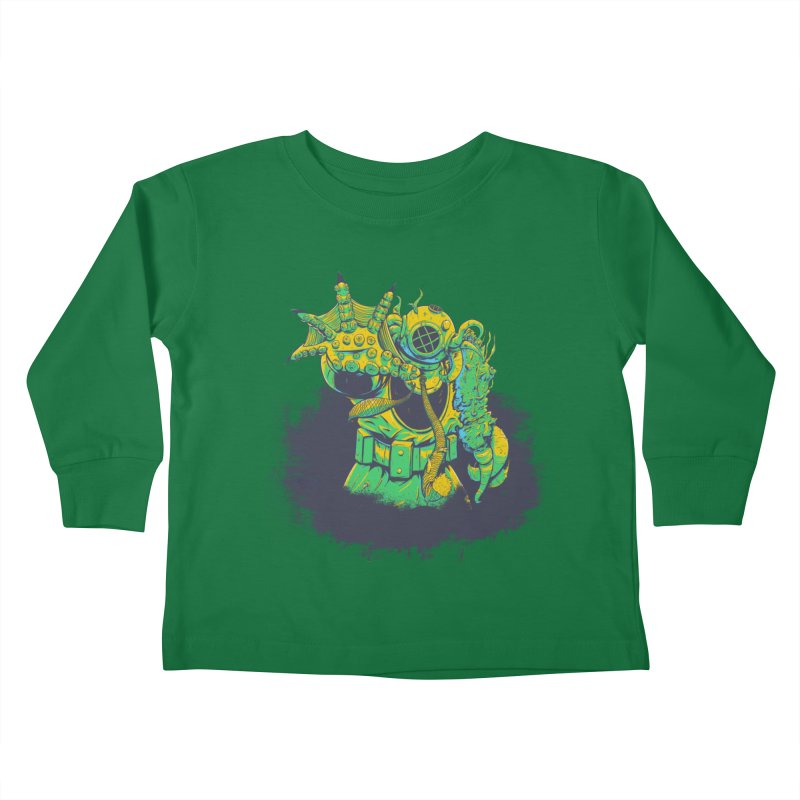 Green in the Gills  Kids Toddler Longsleeve T-Shirt by Requiem's Thread Shop