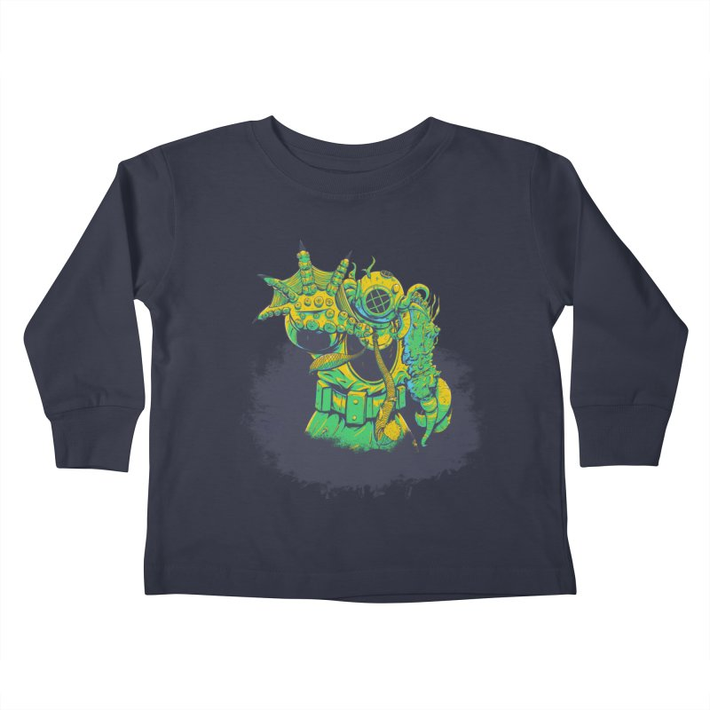 Green in the Gills  Kids Toddler Longsleeve T-Shirt by Requiem's Thread Shop