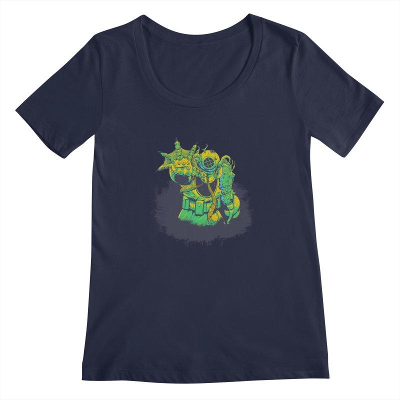 Green in the Gills  Women's Regular Scoop Neck by Requiem's Thread Shop