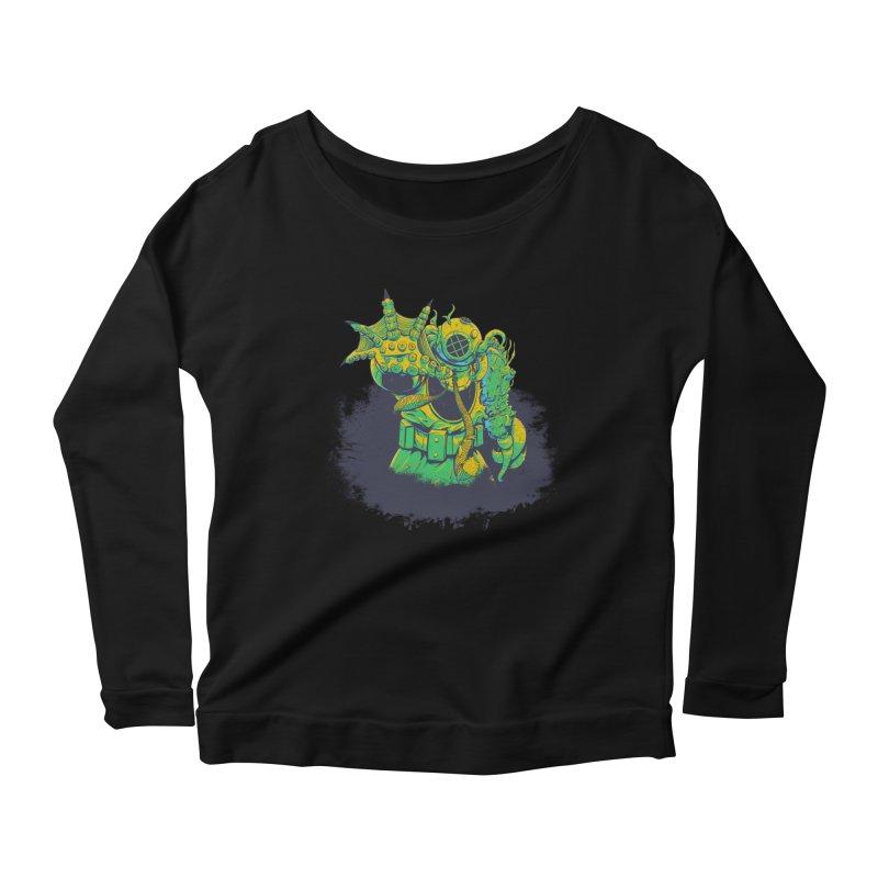 Green in the Gills  Women's Scoop Neck Longsleeve T-Shirt by Requiem's Thread Shop