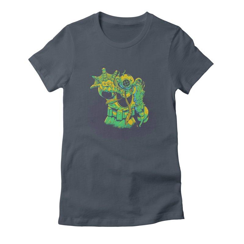 Green in the Gills  Women's T-Shirt by Requiem's Thread Shop