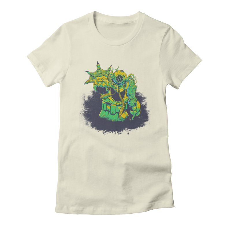 Green in the Gills  Women's Fitted T-Shirt by Requiem's Thread Shop