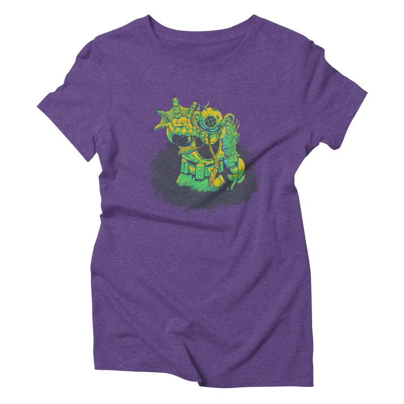 Green in the Gills  Women's Triblend T-Shirt by Requiem's Thread Shop