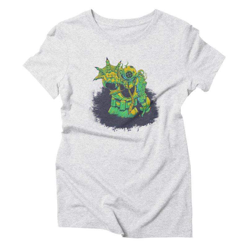 Green in the Gills  Women's Triblend T-Shirt by Requiem's Thread Shop