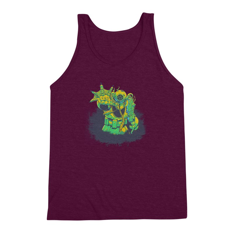 Green in the Gills  Men's Triblend Tank by Requiem's Thread Shop