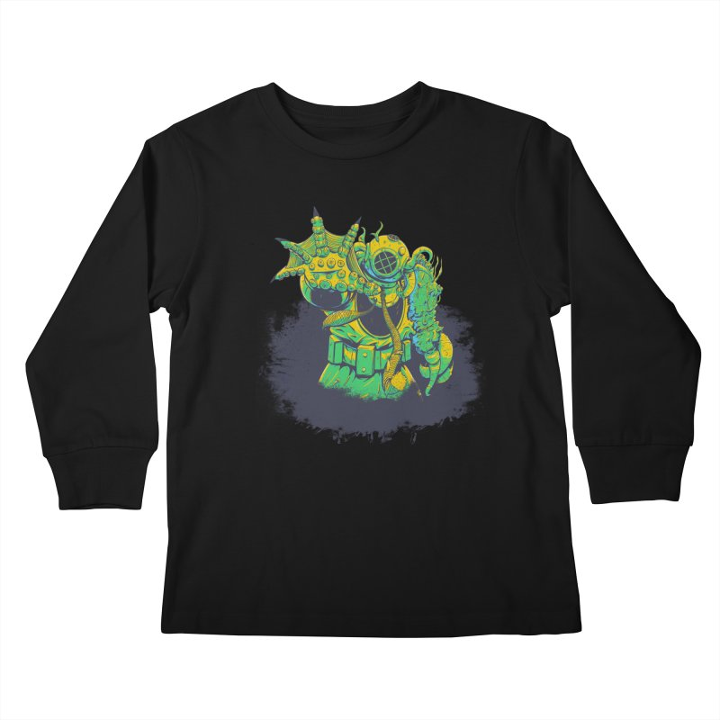 Green in the Gills  Kids Longsleeve T-Shirt by Requiem's Thread Shop
