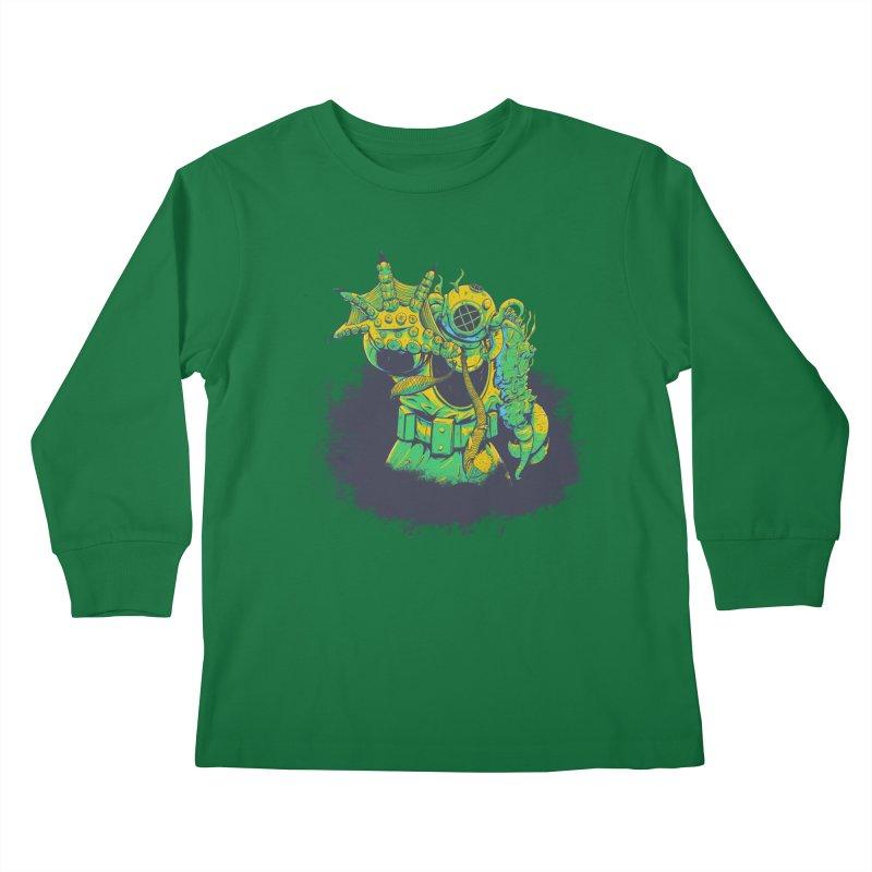 Green in the Gills  Kids Longsleeve T-Shirt by Requiem's Thread Shop