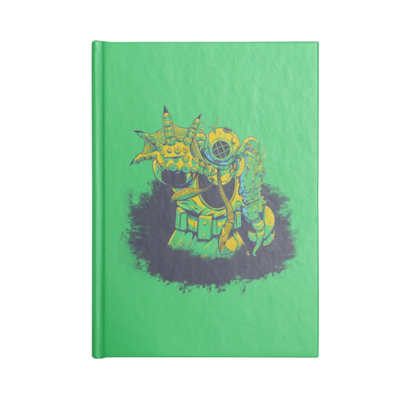 Green in the Gills  Accessories Lined Journal Notebook by Requiem's Thread Shop