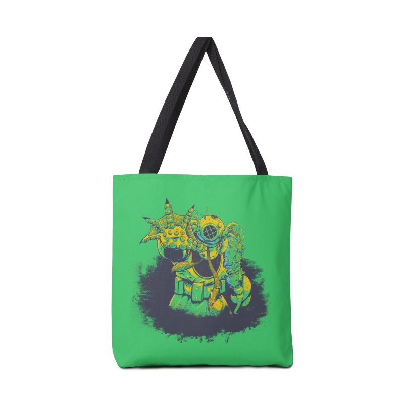 Green in the Gills  Accessories Tote Bag Bag by Requiem's Thread Shop