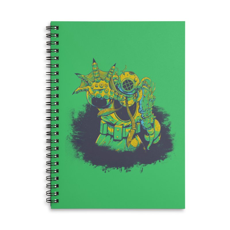 Green in the Gills  Accessories Lined Spiral Notebook by Requiem's Thread Shop