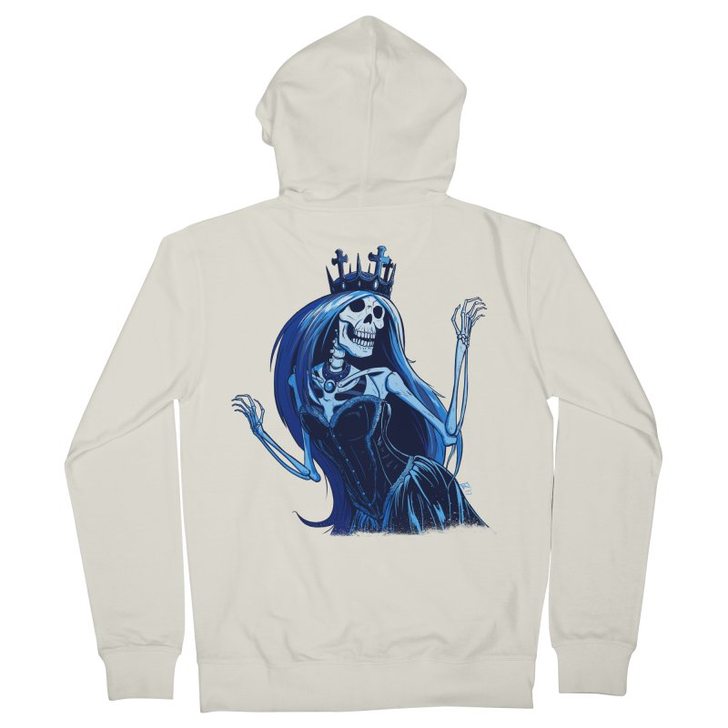 Lady Death Women's French Terry Zip-Up Hoody by Requiem's Thread Shop