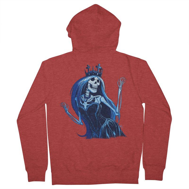 Lady Death Men's Zip-Up Hoody by Requiem's Thread Shop