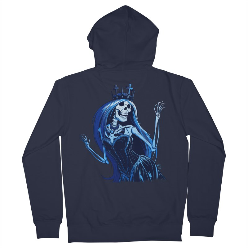 Lady Death Men's French Terry Zip-Up Hoody by Requiem's Thread Shop