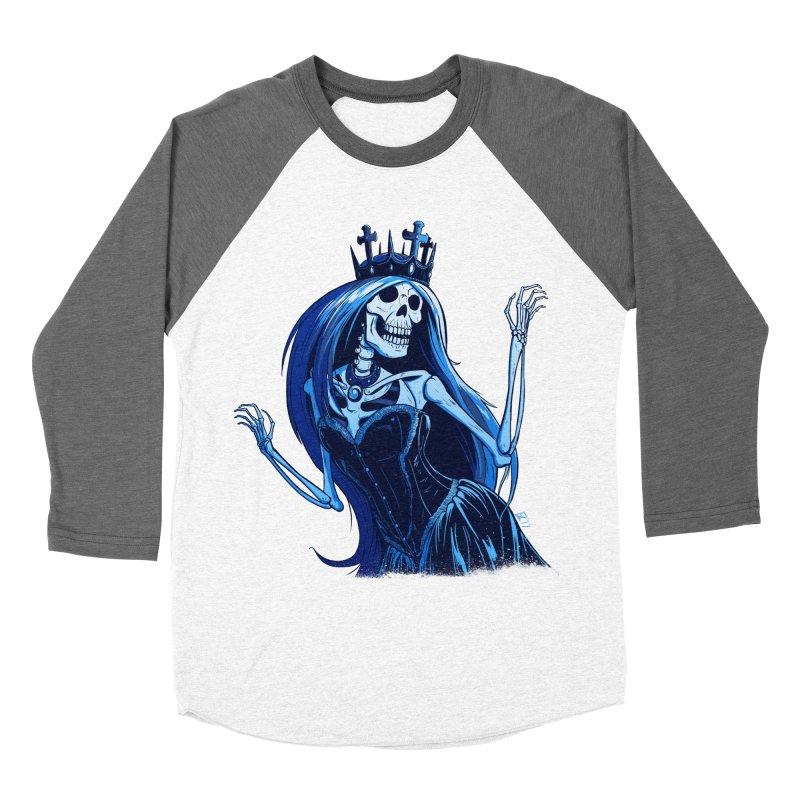 Lady Death Women's Baseball Triblend Longsleeve T-Shirt by Requiem's Thread Shop