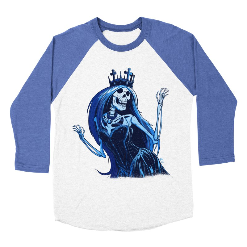 Lady Death Men's Baseball Triblend Longsleeve T-Shirt by Requiem's Thread Shop
