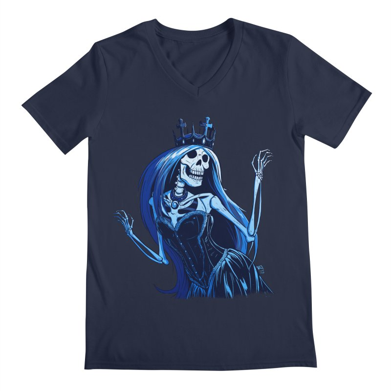 Lady Death Men's Regular V-Neck by Requiem's Thread Shop