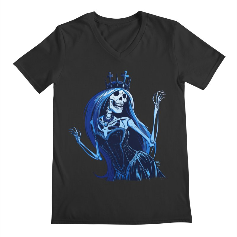 Lady Death Men's V-Neck by Requiem's Thread Shop