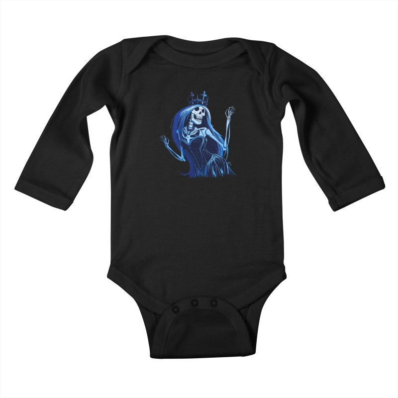 Lady Death Kids Baby Longsleeve Bodysuit by Requiem's Thread Shop