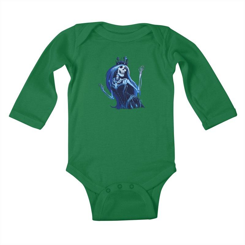 Lady Death Kids Baby Longsleeve Bodysuit by Requiem's Thread Shop