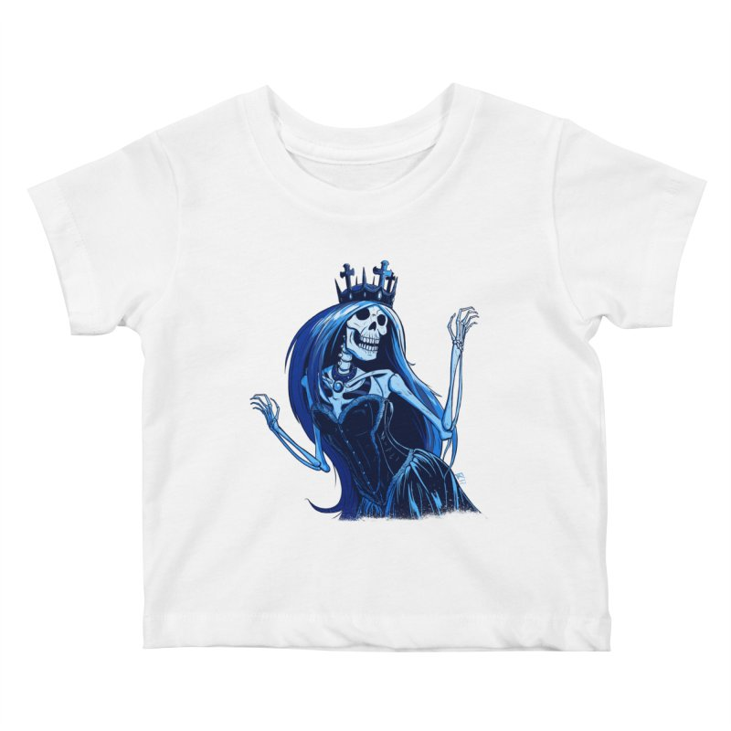 Lady Death Kids Baby T-Shirt by Requiem's Thread Shop