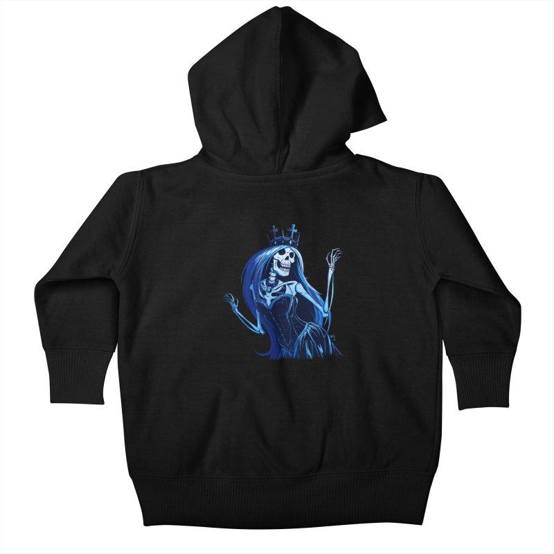 Lady Death Kids Baby Zip-Up Hoody by Requiem's Thread Shop