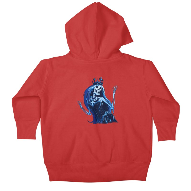 Lady Death Kids Baby Zip-Up Hoody by Requiem's Thread Shop