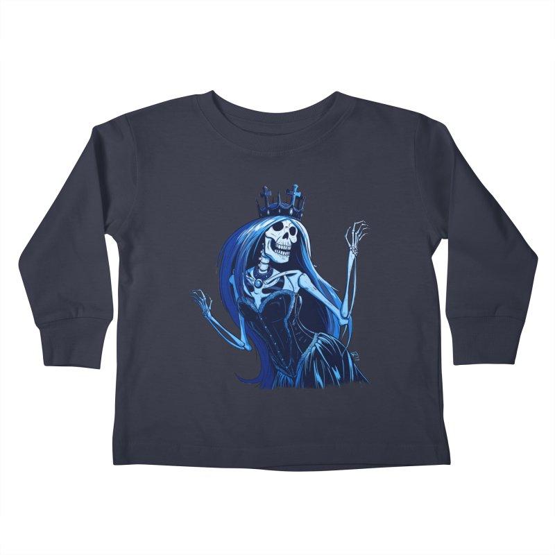 Lady Death Kids Toddler Longsleeve T-Shirt by Requiem's Thread Shop