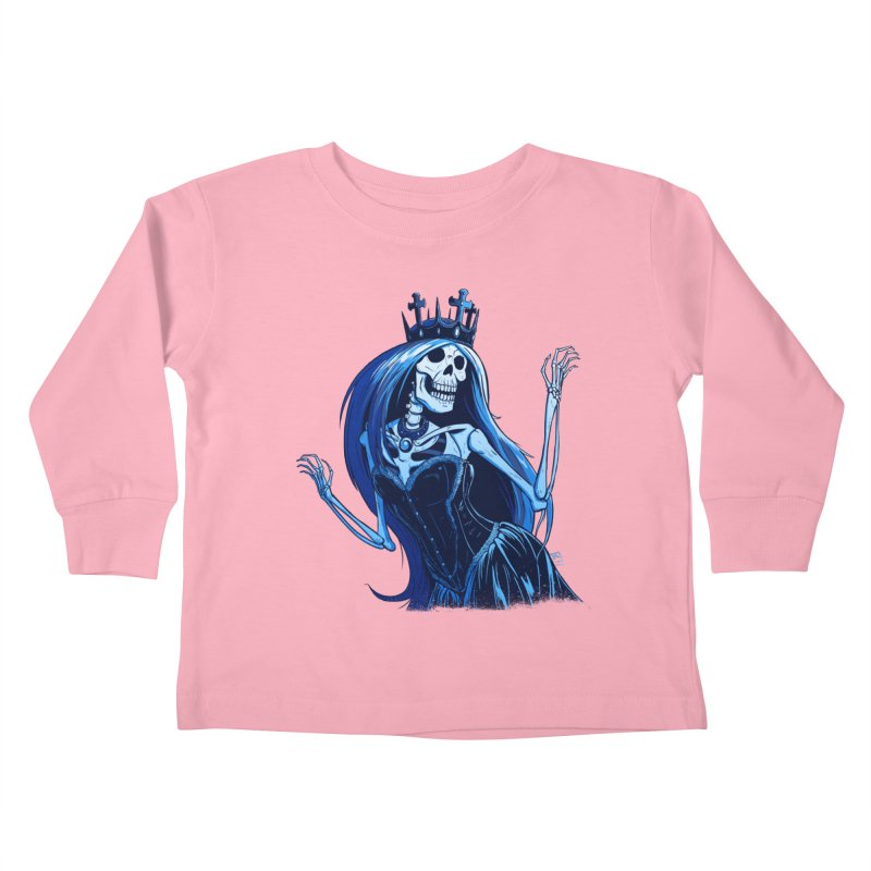 Lady Death Kids Toddler Longsleeve T-Shirt by Requiem's Thread Shop