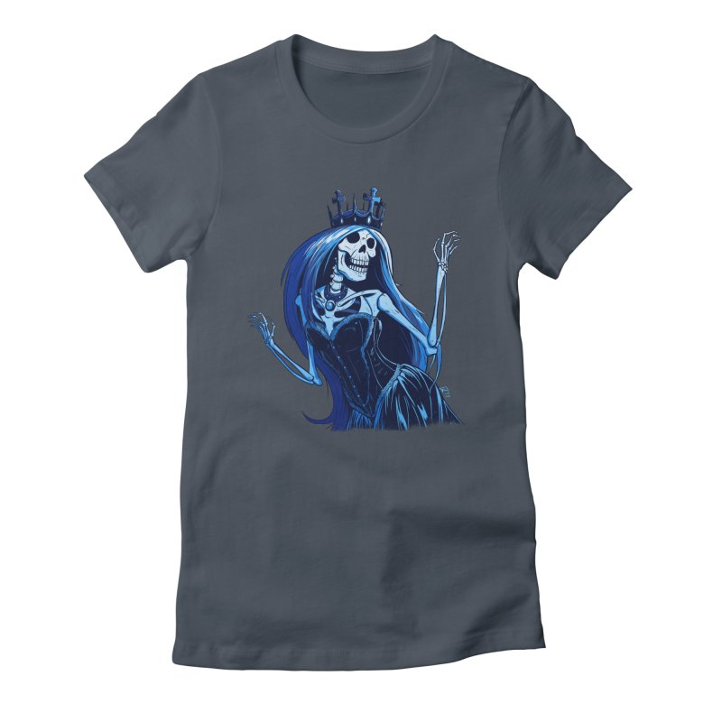 Lady Death Women's Fitted T-Shirt by Requiem's Thread Shop