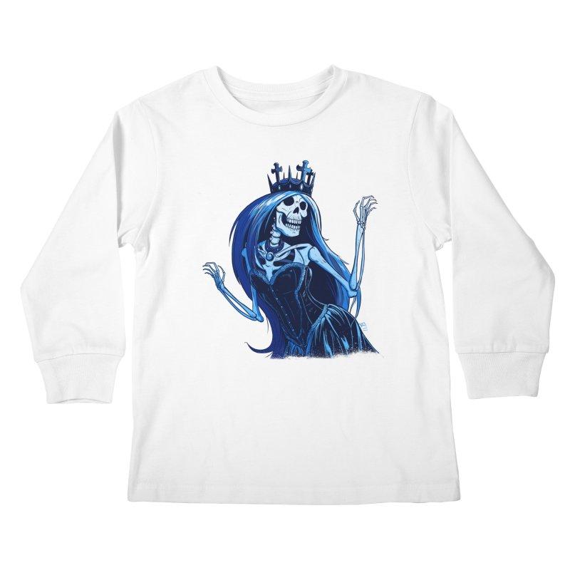 Lady Death Kids Longsleeve T-Shirt by Requiem's Thread Shop