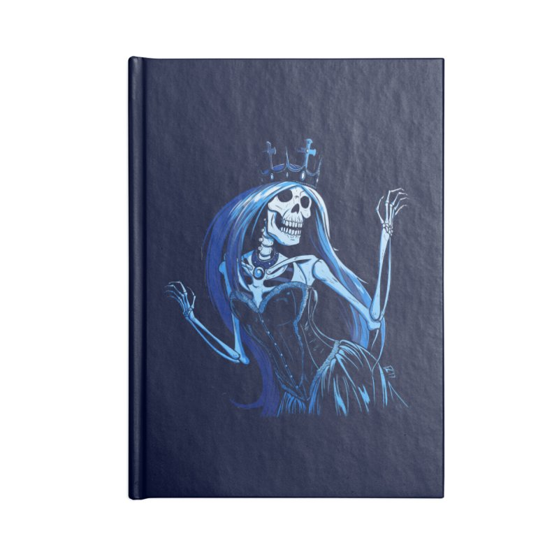 Lady Death Accessories Blank Journal Notebook by Requiem's Thread Shop