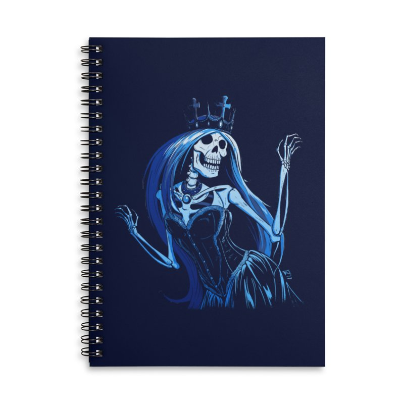 Lady Death Accessories Lined Spiral Notebook by Requiem's Thread Shop