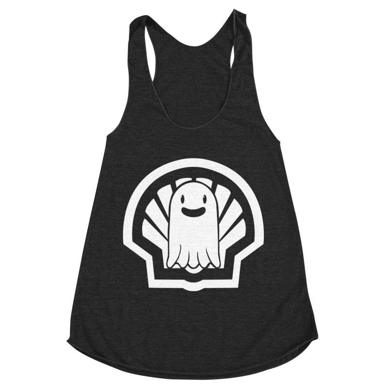 Ghost In A Shell Women's Racerback Triblend Tank by Requiem's Thread Shop