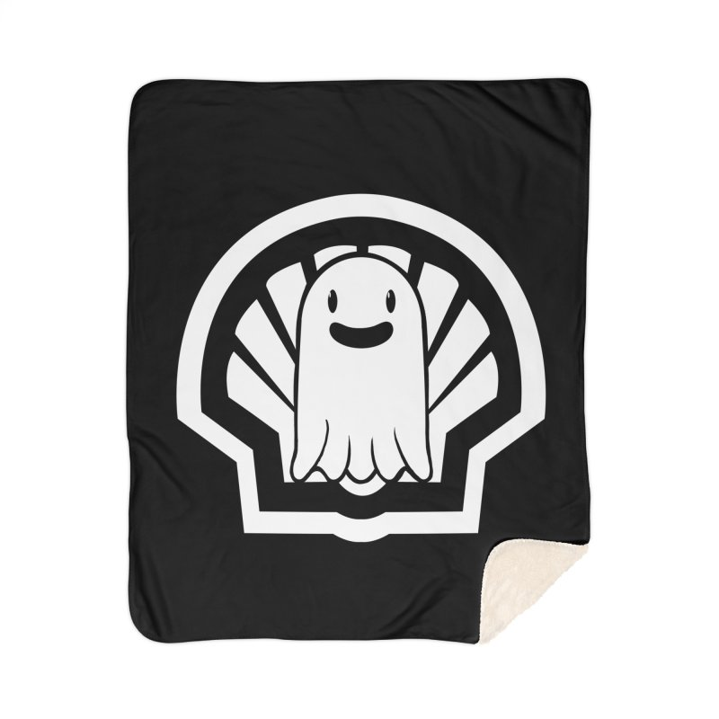 Ghost In A Shell Home Sherpa Blanket Blanket by Requiem's Thread Shop