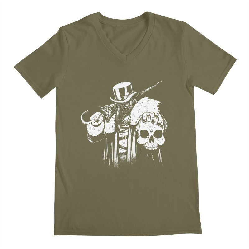 No More Heroes  Men's Regular V-Neck by Requiem's Thread Shop