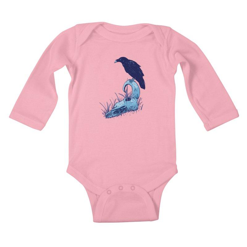 Nightmares Kids Baby Longsleeve Bodysuit by Requiem's Thread Shop