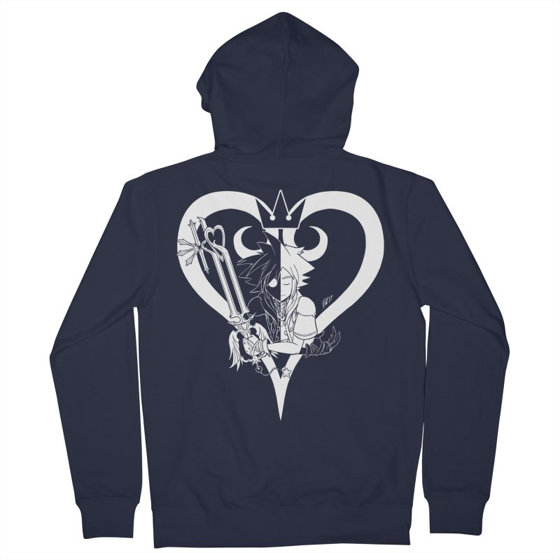 Heartless Men's French Terry Zip-Up Hoody by Requiem's Thread Shop