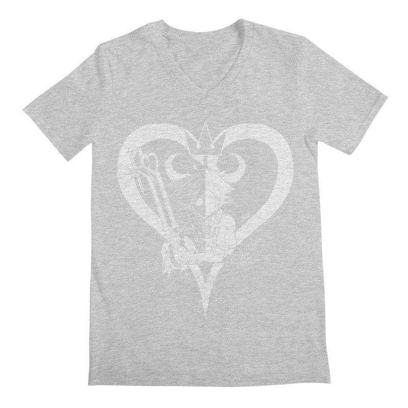 Heartless Men's Regular V-Neck by Requiem's Thread Shop