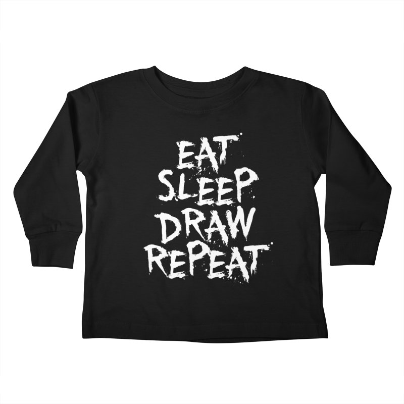 Life of an Artist Kids Toddler Longsleeve T-Shirt by Requiem's Thread Shop